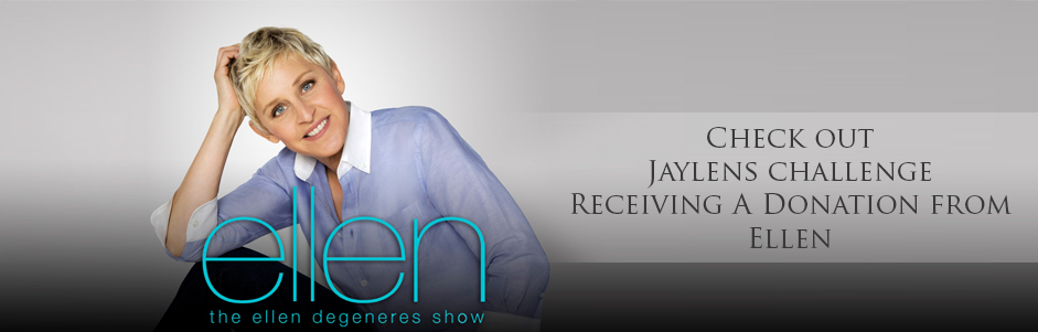 Ellen Degeneres Surprises Jaylens with Donation