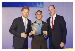 Jaylen Arnold Receives Princess Diana Award From The Royal Highnesses Prince William and Prince Harry