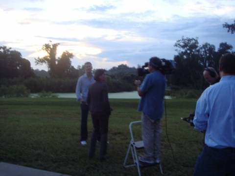 Filming 'The American Spirit' for Katie Couric